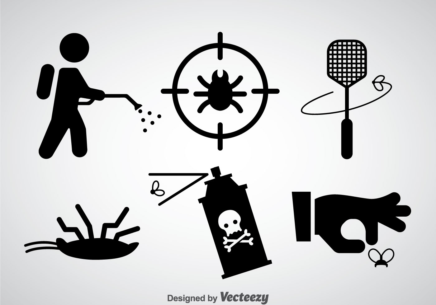 Pest Control Black Icons Vector Download Free Vector Art