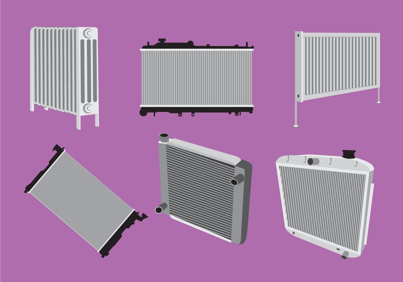 Various Type Of Radiator Vector Download Free Vectors