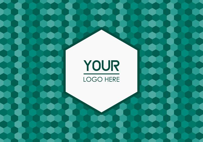 Free Emerald Geometric Logo Background