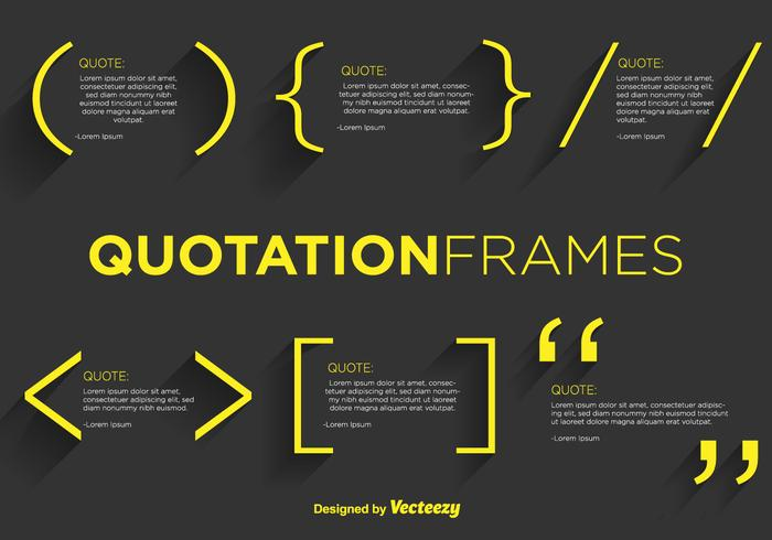 Quotation Mark Vector Templates
