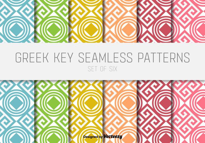 Greek Key Vector Patterns