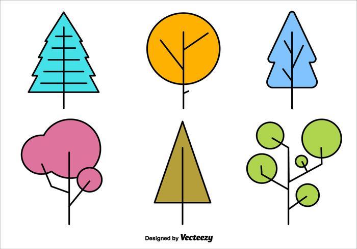 Geometric Minimal Tree Vector Shapes
