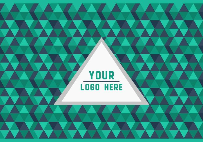 Free Green Triangle Geometric Logo Background Vector