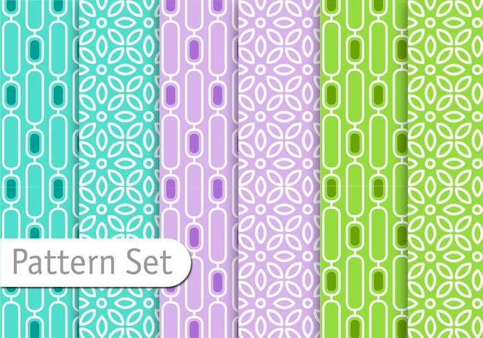 Retro Colorful Pattern set