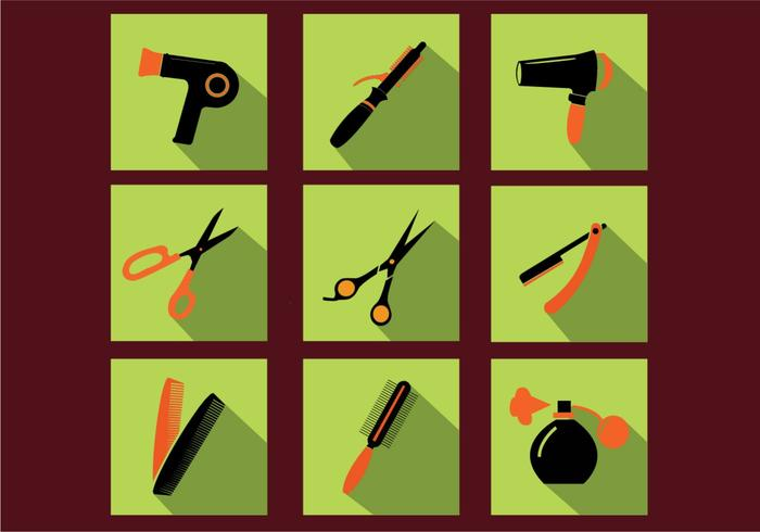 Barberverktyg Ikonvektorer