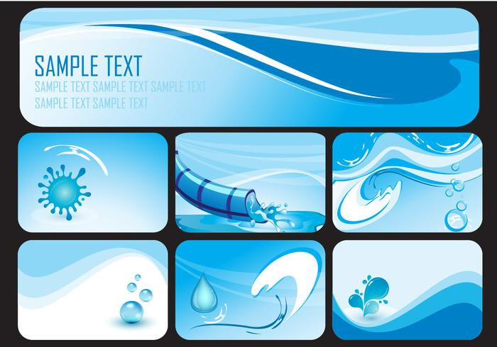 Water Slide Banner Vectors
