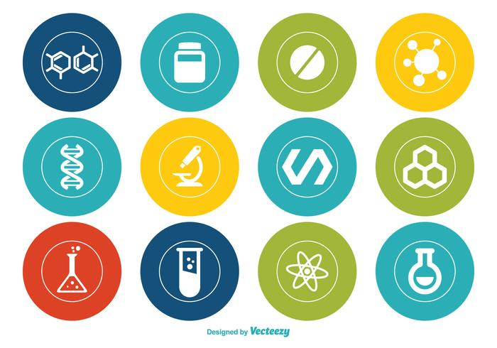 Chemistry Vector Icon Set