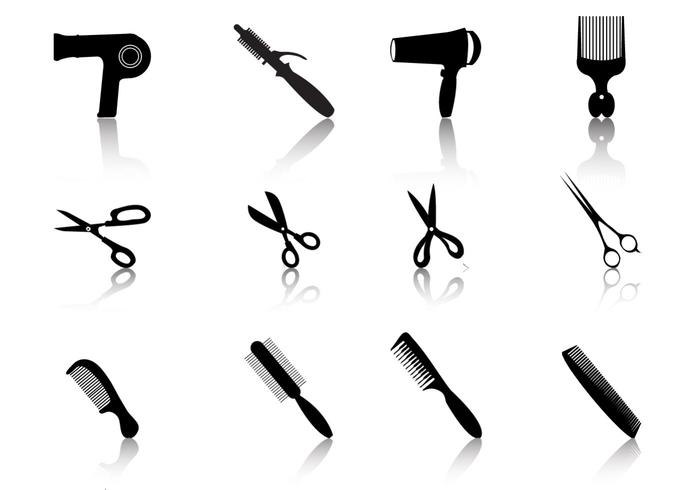 Hair Styling Vector Silhouetes