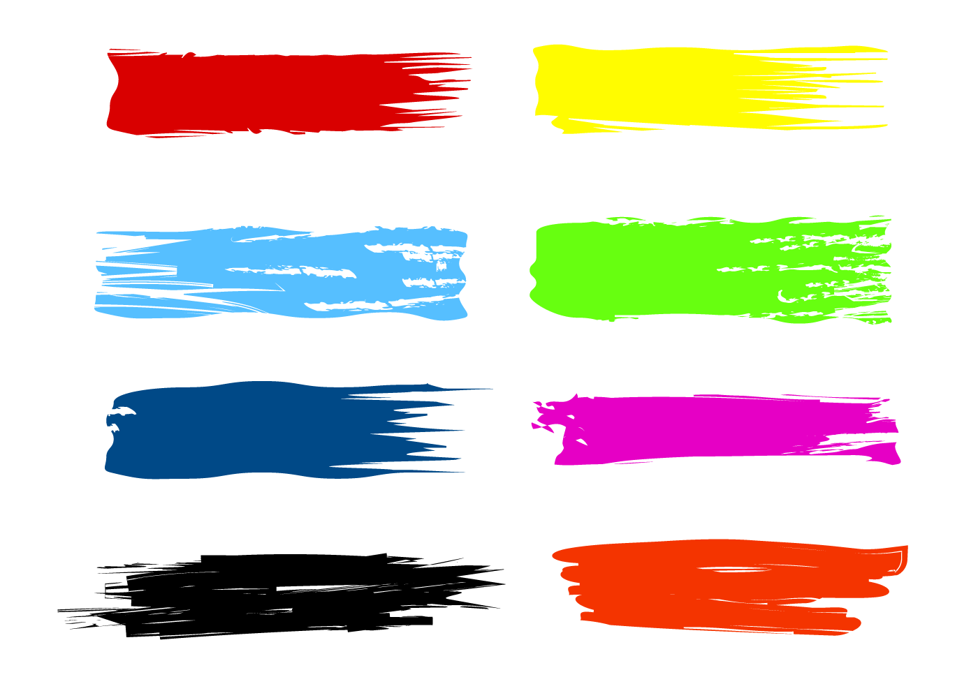 Free Paint Streak Brush Vectors - Download Free Vector Art ...
