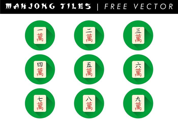 Mahjong Tiles Free Vector