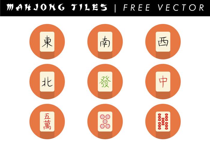 Mahjong Azulejos Vector Libre