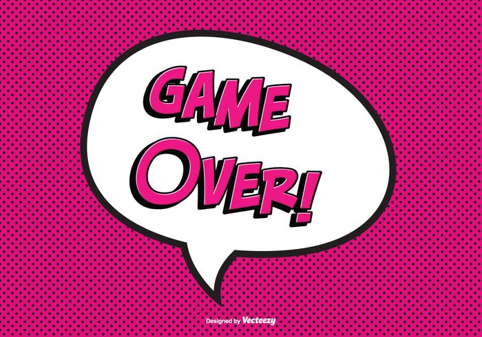 Comic Game Over Vector Illustration