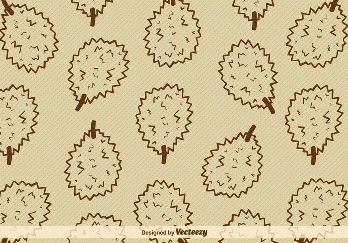 Durian Fruit Vector Background