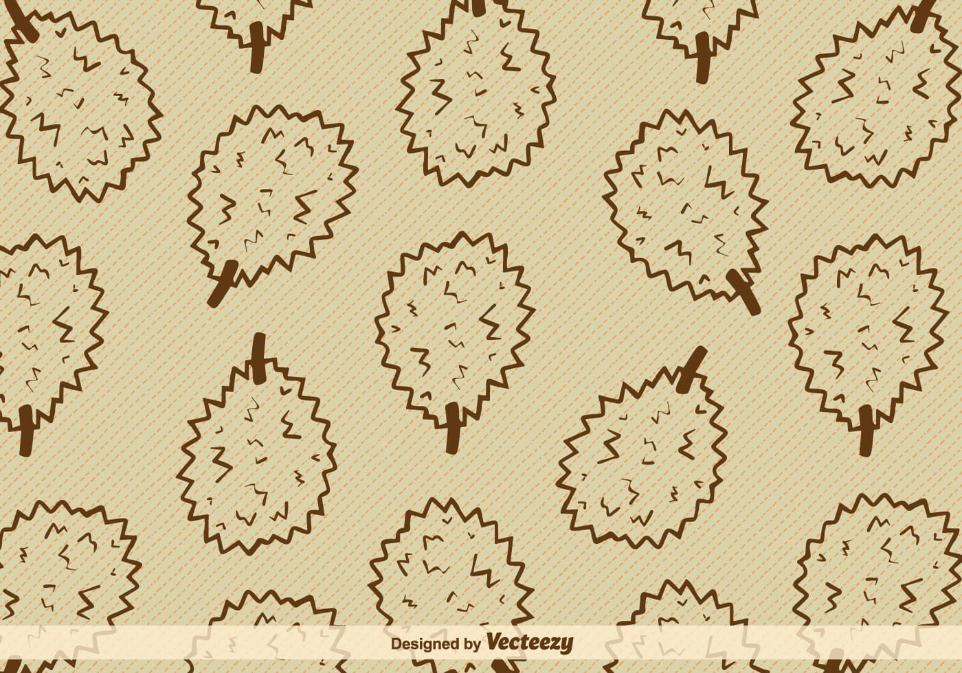 Durian Fruit Vector Background
