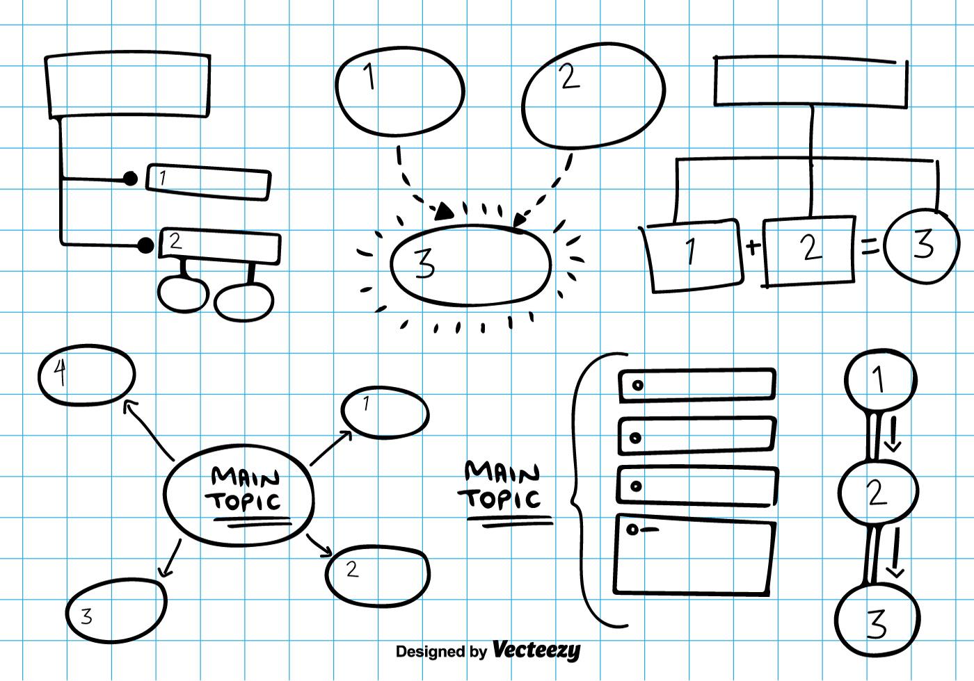 Mind Map Vector Sketch Download Free Vectors Clipart
