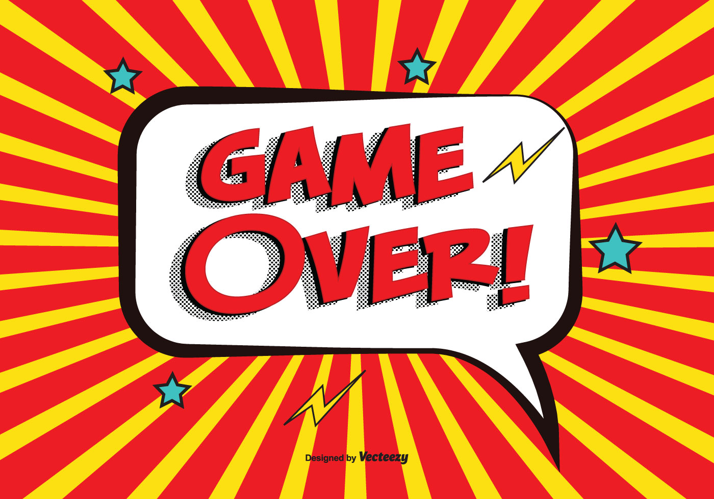 Comic Game Over Vector Illustration Download Free Vector