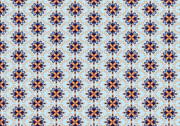 Mosaic Floral Pattern Vector