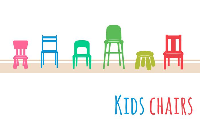 Conjunto de cadeiras para crianças