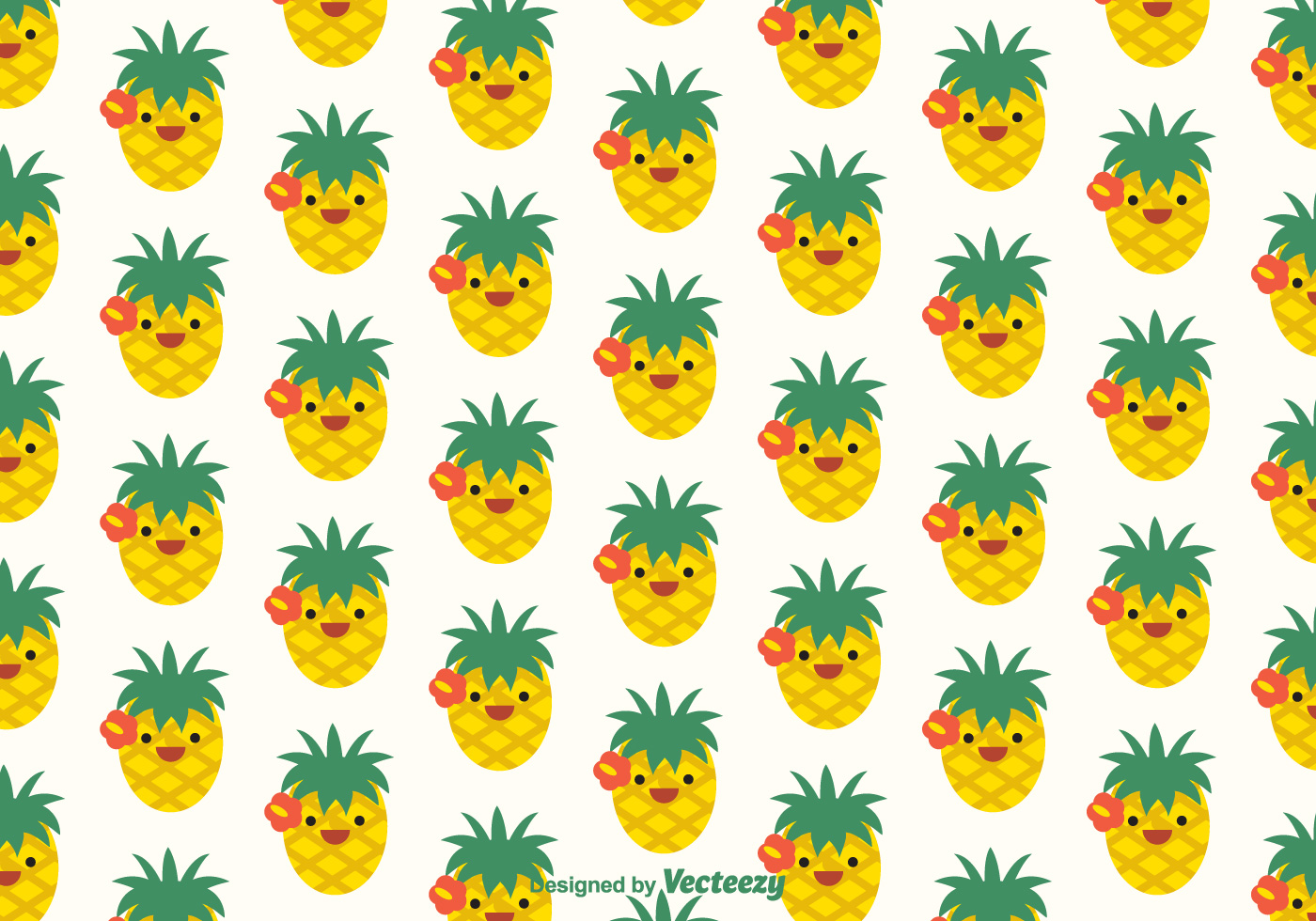 Free Ananas Faces Vector Pattern Download Free Vector