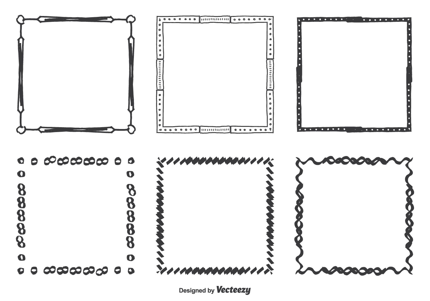 Black Frame Glasses Vector : Hand Drawn Vector Frames Set - Download Free Vector Art ...