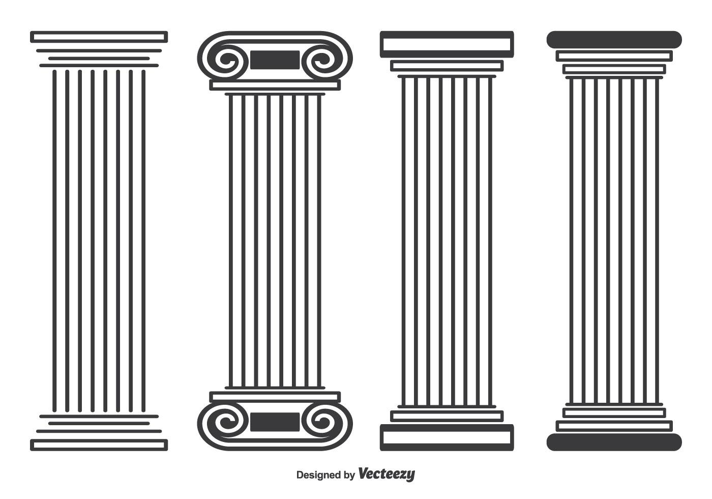 Roman Stayle Pillar Vector Shapes - Download Free Vector Art, Stock ...