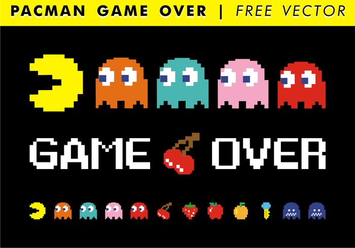 Pacman Game Over Free Vector - Download Free Vector Art, Stock
