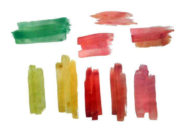 Free Colorful Brush Strokes Vector