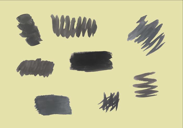 Free Black Brushstrokes Vectors