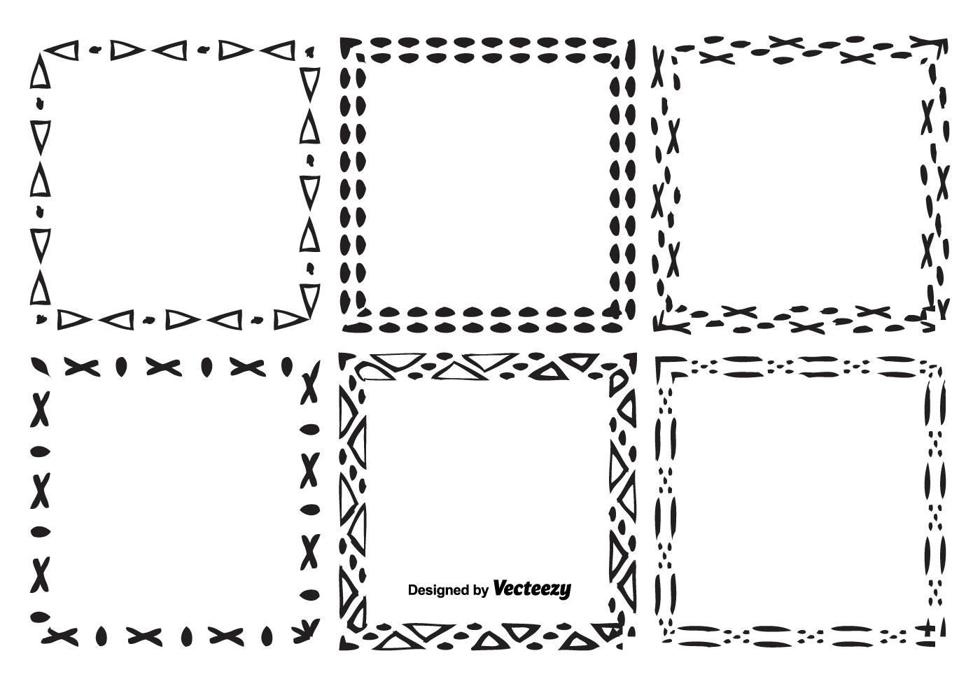 Handgezeichneten Stil Vektor Rahmen Set - Kostenlose Vektor-Kunst ...