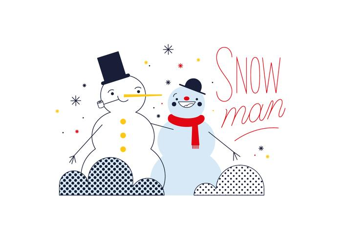 Vector de muñeco de nieve gratis