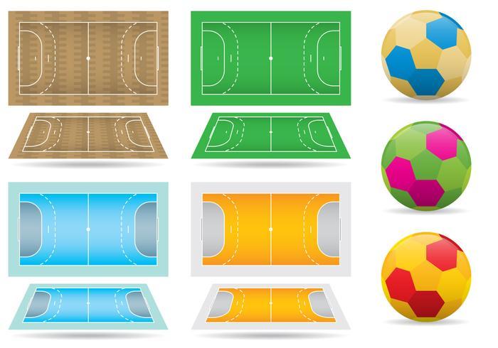 Quadros e bolas de handball