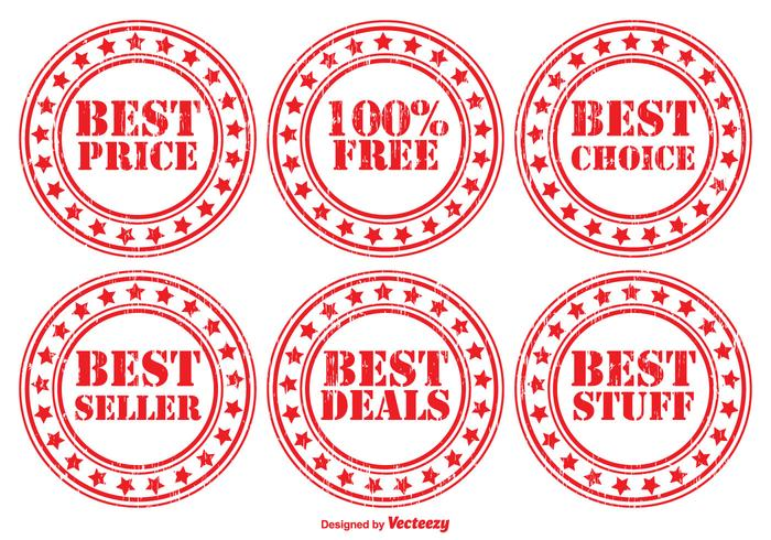 Distressed Promotional Vector Badge Set