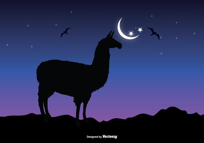 Llama Sillhouette Vector Illustration