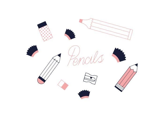 Freie Bleistifte Vektor