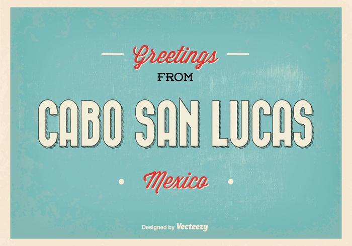 Cabo San Lucas Retro Greeting Illustration