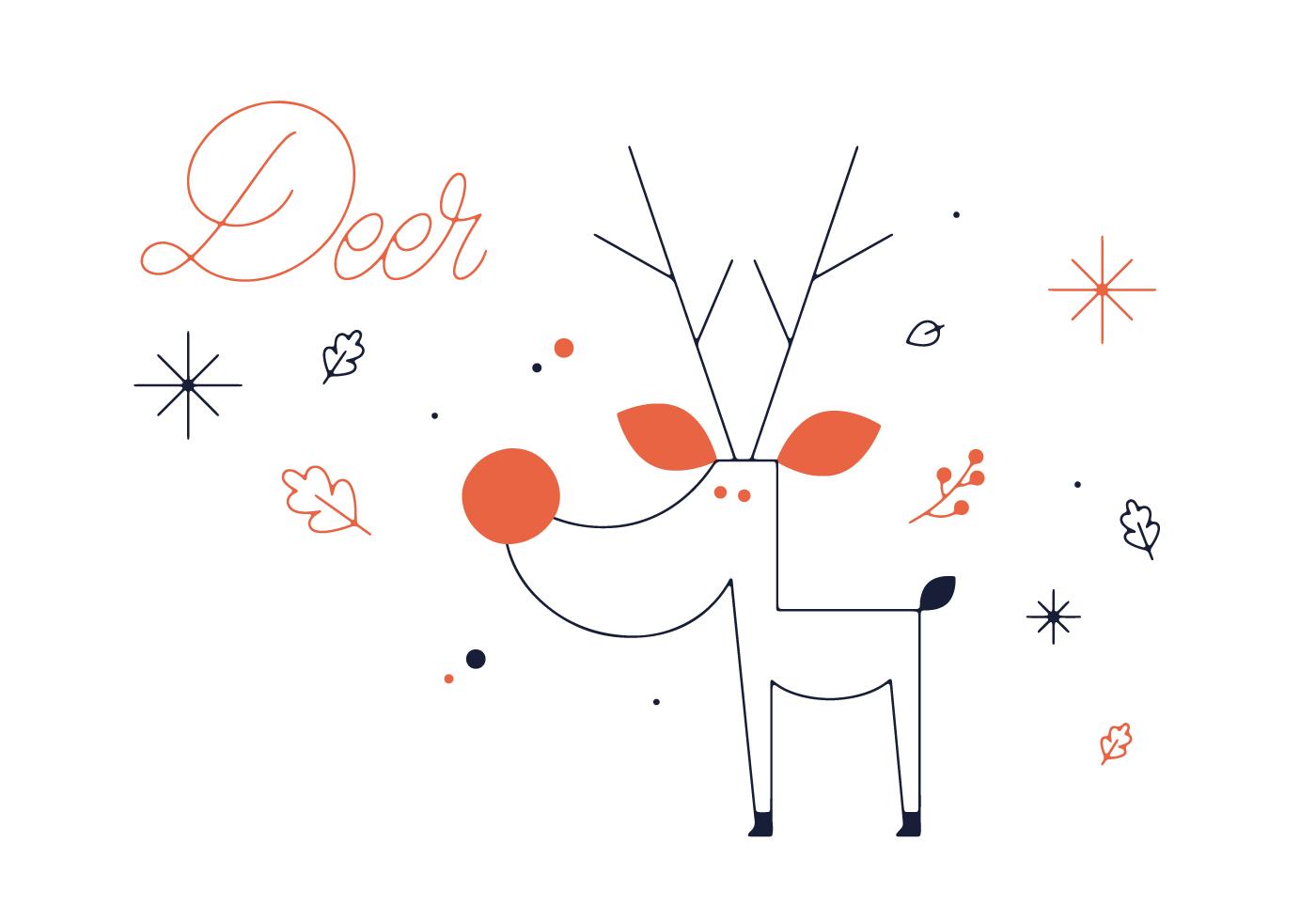 Free Deer Vector Download Art Stock Graphics Images Butchering Diagram