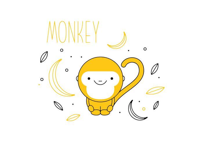 Monkey Vector gratuito
