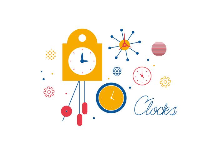 Free Clocks Vector