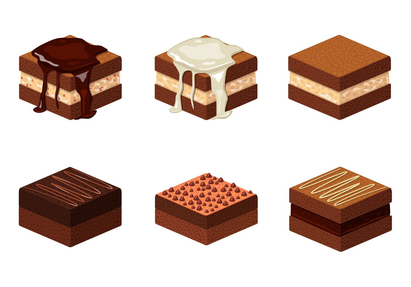 brownie illustration download free vector art stock