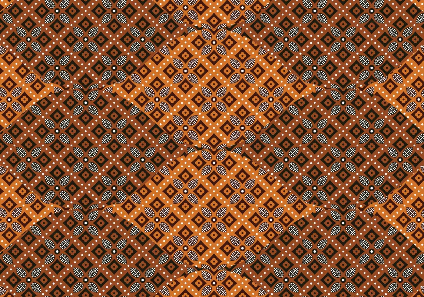 Batik Background Vector - Download Free Vector Art, Stock