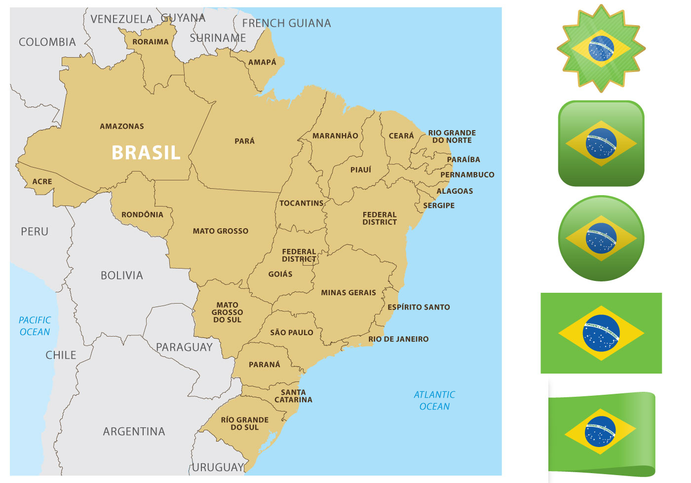 Map Brazil Free Vector Art - (9505 Free Downloads)