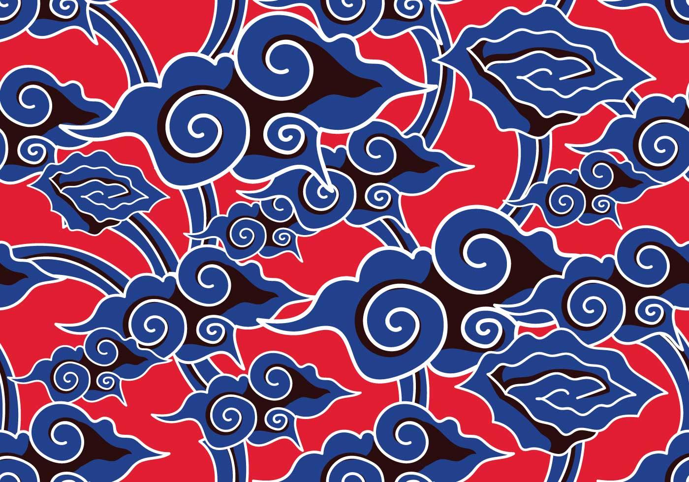 Batik Background Vecto...