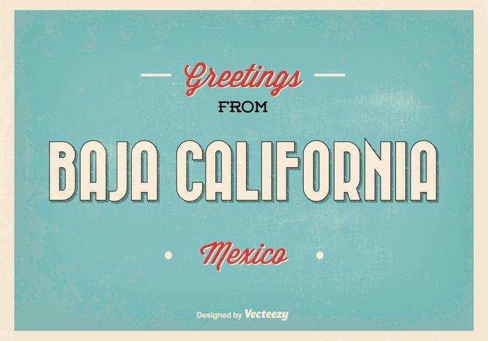 Baja California Mexico Greeting Illustration