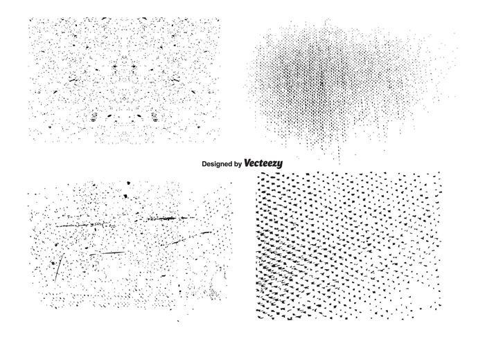 Conjunto de textura grunge do vetor