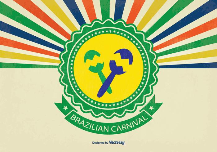 Retro Brazil Carniaval Vector Background