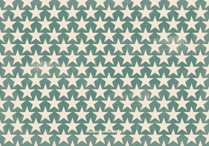 Old Retro Style Vector Star Background