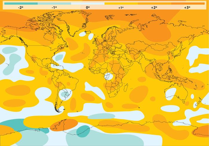 Global Warming Vector Map