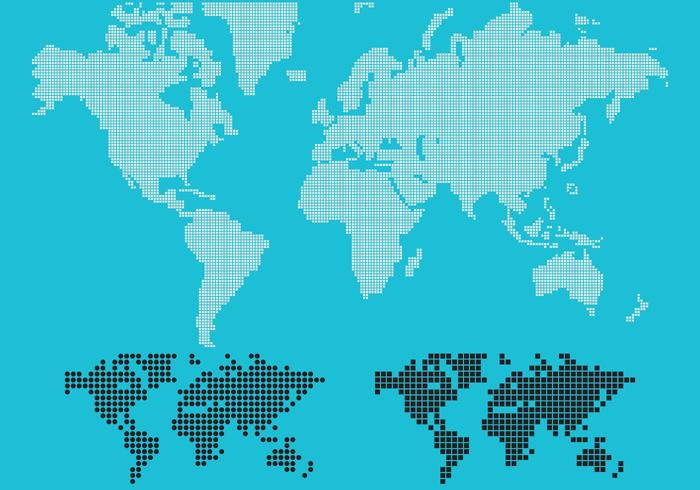 Dotted Vector Mapa Mundial