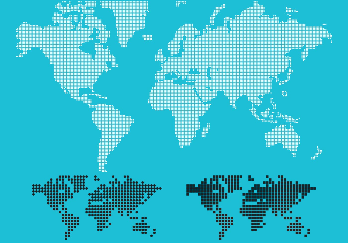 Dotted World Map Vecto...