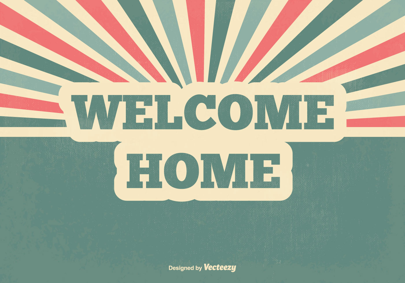 retro welcome home vector illustration download free